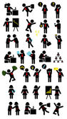 Businessman and business woman activity pictogram symbols Good use for your symbol logo sticker design web icon wallpaper or any design you want Easy to edit or change color