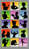 Profession Avatar Silhouettes Good use for your symbol logo sticker design or any design you want Easy to use edit or change color