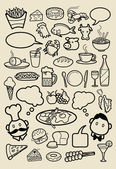 Food and beverage hand drawing icons God use for restaurant menu food and beverage illustration wallpaper background or any design you want Easy to use or edit