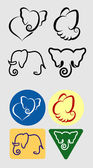Nice clean and smooth vector Simple elephant symbols Good use for your symbol logo sticker or any design you want Easy to use edit or change color