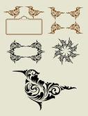 Bird Floral Element Ornament Decoration