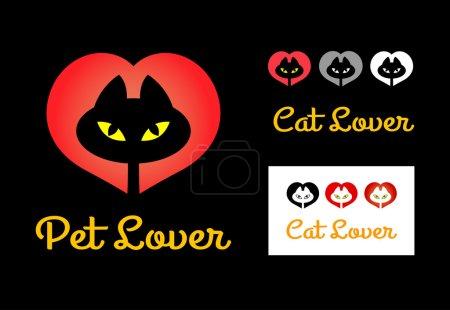 Illustration pour Symbole de chat mignon avec de nombreuses alternatives. Bon usage pour le symbole, logo, autocollant, conception de t-shirt ou tout autre design que vous voulez. Facile à utiliser, modifier ou changer de couleur . - image libre de droit