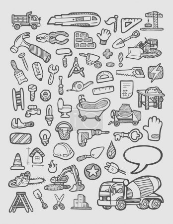 Construction Icons Sketch
