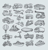 Transportation Icons Sketch