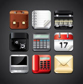 Business apps icons vector set