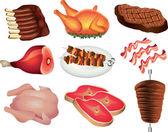 Meat photo-realistic set