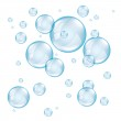Transparent soap bubbles on white background photo realistic vector