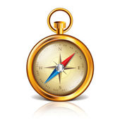 Golden compass vector illustration