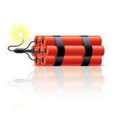 Dynamite sticks vector illustration