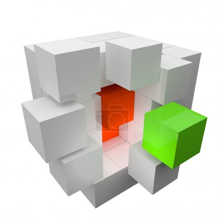 abstract white cubes