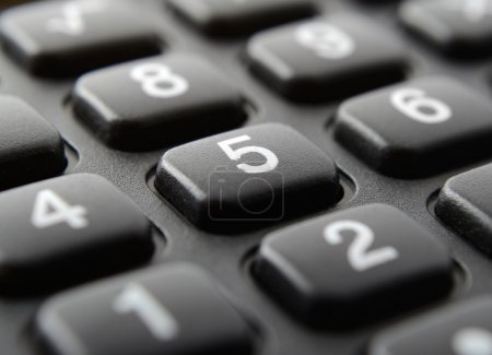 calculator keypad close up
