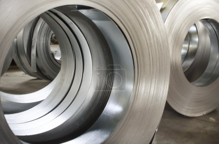 Photo for Sheet tin metal rolls - Royalty Free Image