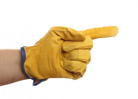 hand with protective glove