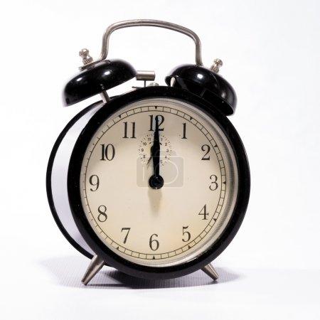 Photo pour Réveil définie à minuit - image libre de droit