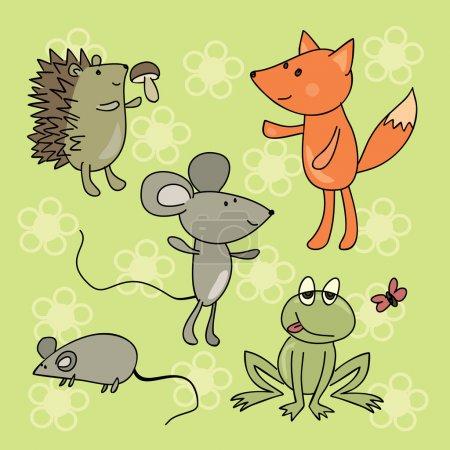 Sammlung handgezeichneter Tiere