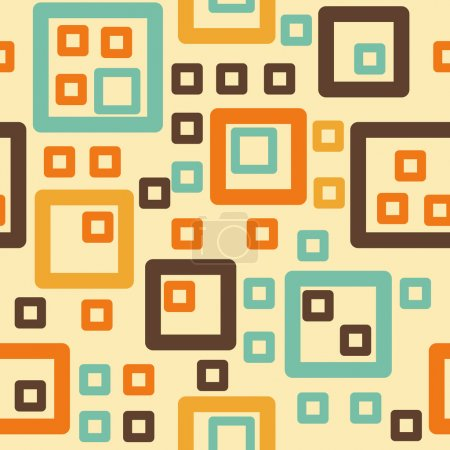 Illustration for Abstract squares seamless pattern - Royalty Free Image