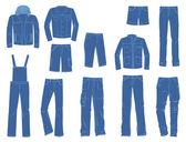 Male denim clothing