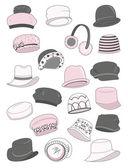 Sada ženské klobouky