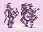 Clowns illustration