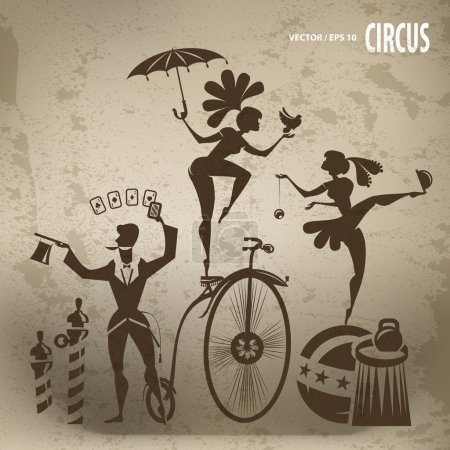 Illustration for Circus artists - Royalty Free Image