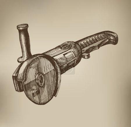 Grinding machine. Vector Format