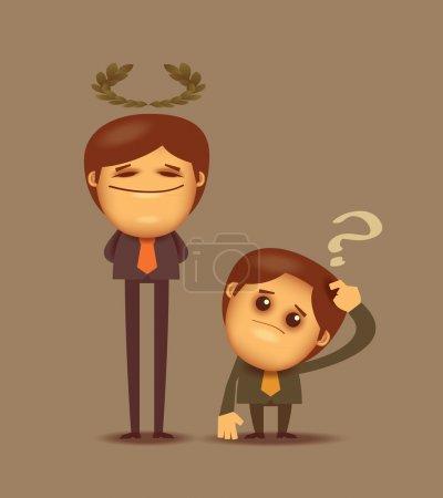 Illustration pour Meilleur employé. Format vectoriel - image libre de droit