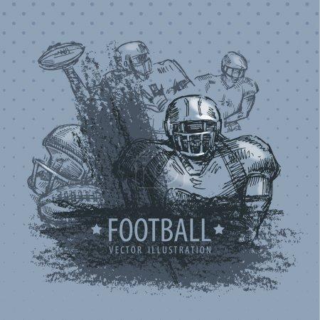 Football. Vector illustration
