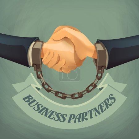 Illustration pour Partenaires commerciaux. Format vectoriel - image libre de droit