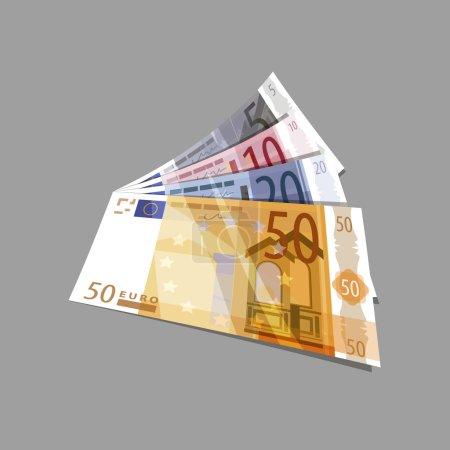 Illustration pour Euros. Format vectoriel - image libre de droit