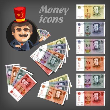 Illustration pour Des icônes d'argent. Format vectoriel - image libre de droit