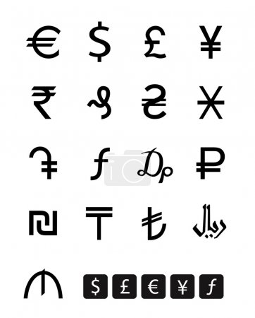 Сurrency symbols. Vector format