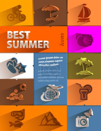 Best summer icons. Vector format