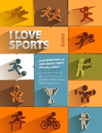 Photo pour J'adore les icônes du sport. Format vectoriel - image libre de droit