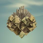Heart Dollar City Vector format