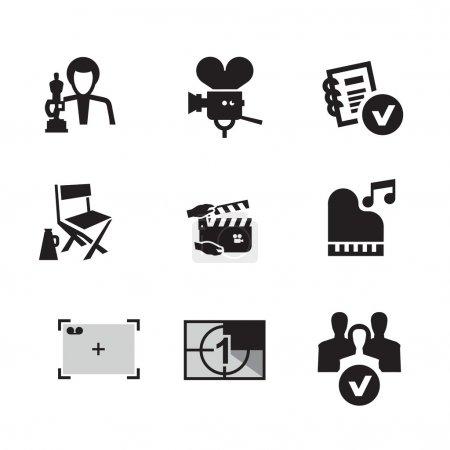 Movie. Vector format