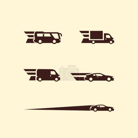 Transportation. Vector format