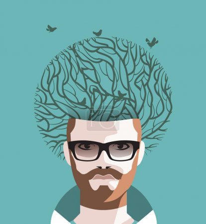 Man and Tree. Vector format