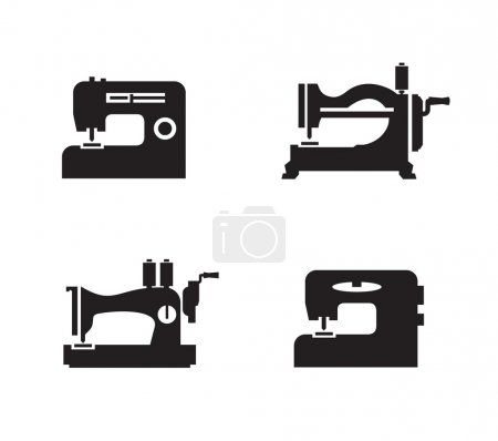 Sewing machine icons. Vector format