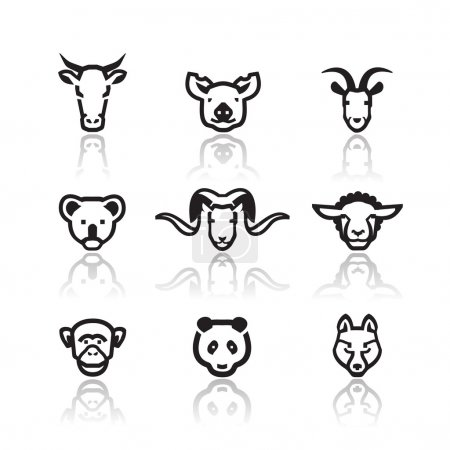 Illustration for Animals icons. Vector format - Royalty Free Image