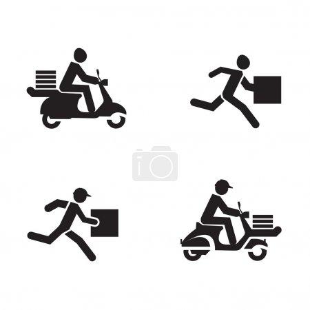 Illustration pour Icônes de livraison. format vectoriel - image libre de droit