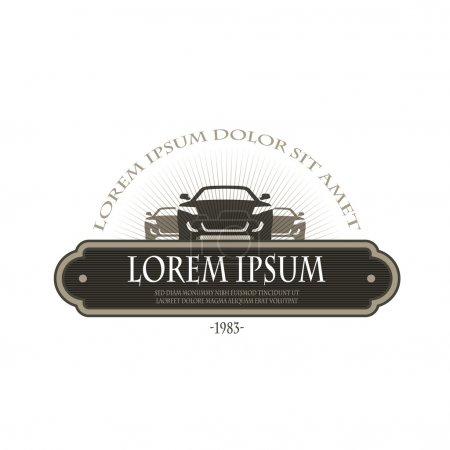Illustration pour Salon de l'auto. Format vectoriel - image libre de droit