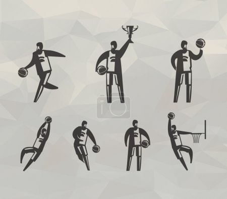 Basketball players. Vector format