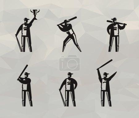 Baseball players. Vector format