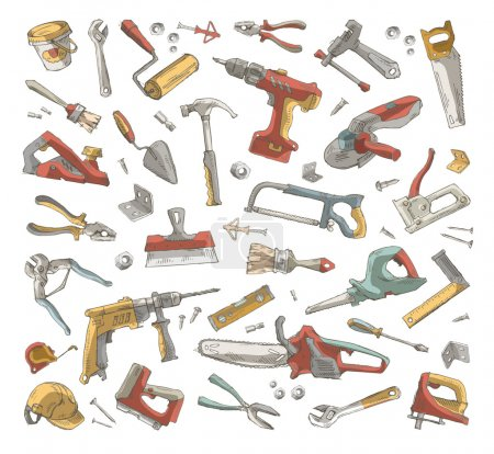 Illustration for Tools set. Vector format - Royalty Free Image