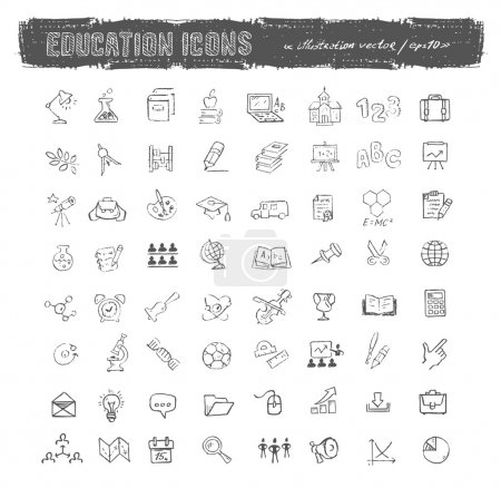 Illustration for Education icons. Vector format - Royalty Free Image