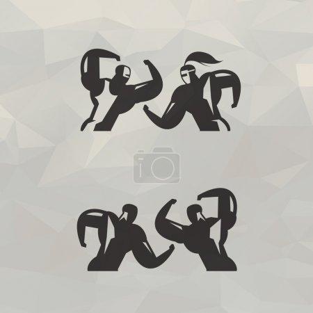 Fight. Vector format