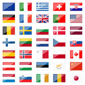 Collection of Country Flags with Reflection