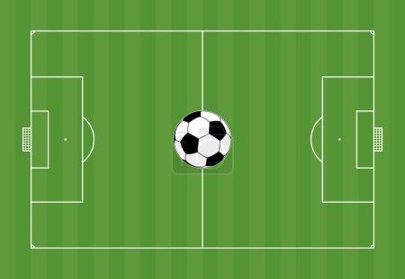 Football field with football