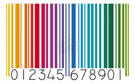 Barcode colored