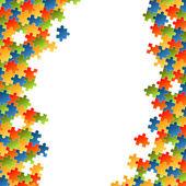 Puzzle pieces colorful background